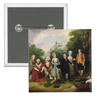 Les familles d'Oliver et de salle dans un jardin,  Pin's