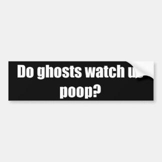 Les fantômes nous observent-ils dunette ? autocollant pour voiture
