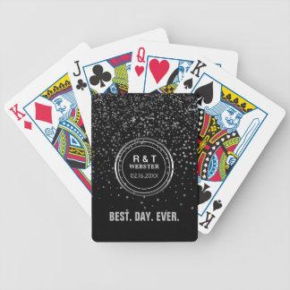 Les faveurs de mariage de monogramme créent votre jeu de poker