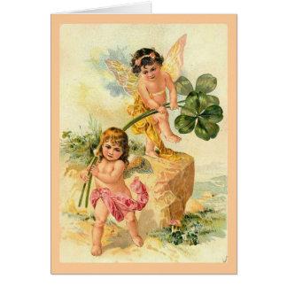 Les fées de bonne chance carte de vœux