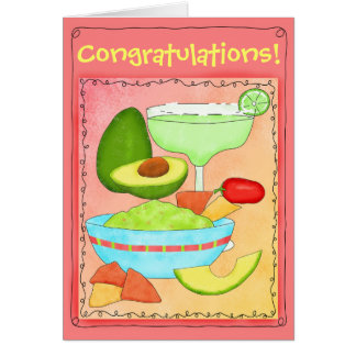 Les félicitations de guacamole de margarita cartes