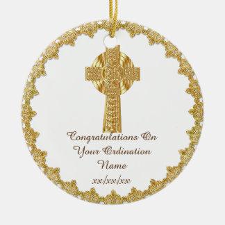 Les félicitations ont nouvellement ordonné le ornement rond en céramique