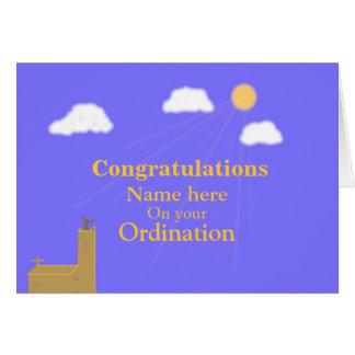 Les félicitations sur la personnaliser de carte de vœux