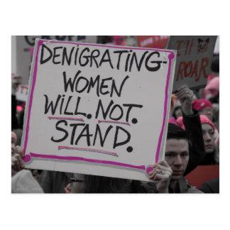Les femmes dénigrantes ne tiendront pas la carte
