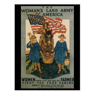 Les femmes enrôlent la deuxième guerre mondiale carte postale