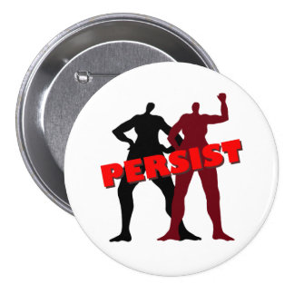 Les femmes fortes persistent bouton badges