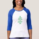 """Les femmes """"gardent le calme et le Presby sur"""" la  T-shirts"""