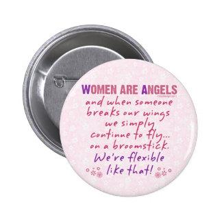 Les femmes sont des anges badge rond 5 cm