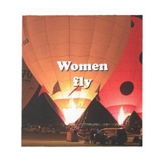 Les femmes volent : ballon à air chaud 2 blocs notes