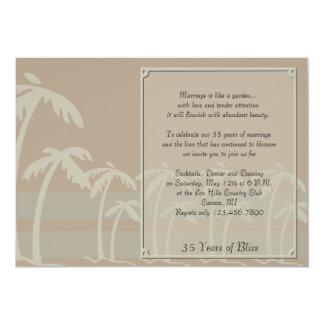Les Fidji : Anniversaire tropical de palmiers Carton D'invitation 12,7 Cm X 17,78 Cm