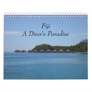 Les Fidji - calendrier mural du paradis 2018 d'un