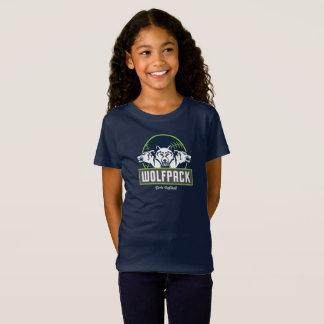 Les filles affinent le Jersey T-shirt bleu de