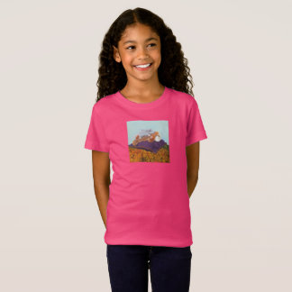 """Les filles """"autour de monde"""" affinent le T-shirt"""