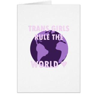 Les filles de transport ordonnent le monde (v1) carte de vœux