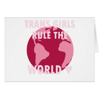 Les filles de transport ordonnent le monde (v2) carte de vœux