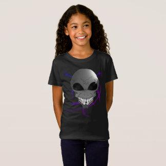Les filles étrangères grises affinent le T-shirt