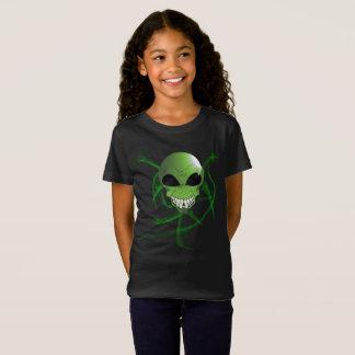 Les filles étrangères vertes affinent le T-shirt