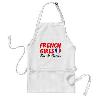 Les filles françaises il améliorent le tablier