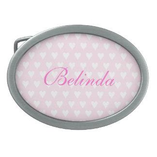Les filles initiales personnalisées de B appellent Boucle De Ceinture Ovale