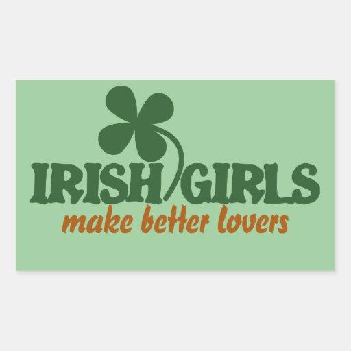 Les filles irlandaises font de meilleurs amants autocollants en rectangle