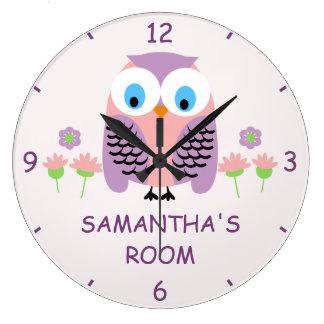 Les filles ont personnalisé l'horloge murale grande horloge ronde