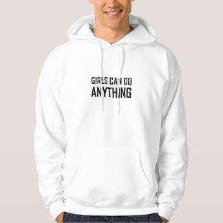 Les filles peuvent faire n'importe quoi veste à capuche
