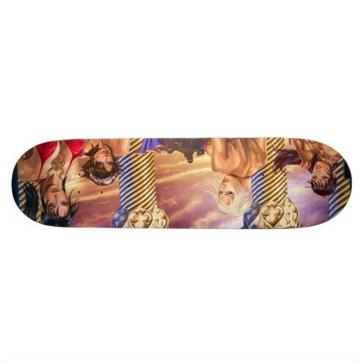 les filles plateaux de skate