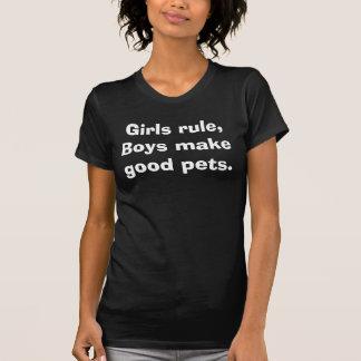 Les filles règle, garçons font de bons animaux t-shirt