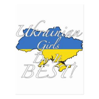 Les filles ukrainiennes le font meilleur ! carte postale