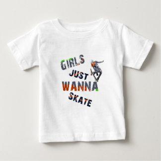 Les filles veulent juste patiner t-shirt pour bébé