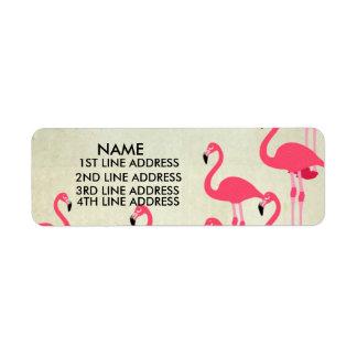 Les flamants renvoient des étiquettes de adresse