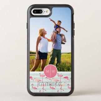 Les flamants sur Stripes| ajoutent votre photo et Coque Otterbox Symmetry Pour iPhone 7 Plus
