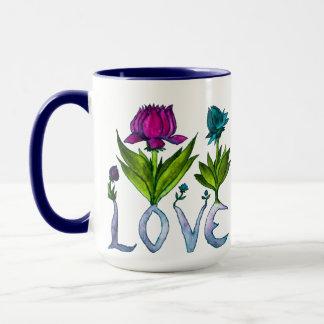 Les fleurs d'amour Deux-Ont modifié la tonalité la Mug