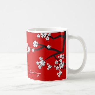 Les fleurs de cerisier Sakuras blanc fleurissent Mug Blanc
