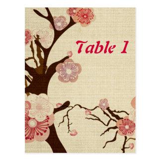 Les fleurs de cerisier vintages fleurissent le cartes postales