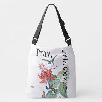 Les fleurs d'oiseau de colibri prient le sac