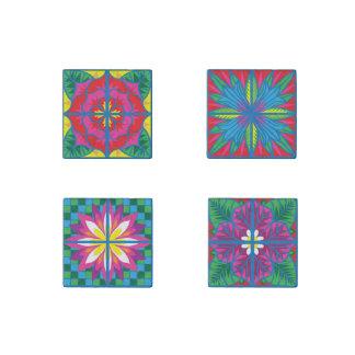 Les fleurs du magnet de tuile de l'Espagne réglé