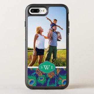 Les fleurs et Feathers| ajoutent votre photo et Coque Otterbox Symmetry Pour iPhone 7 Plus