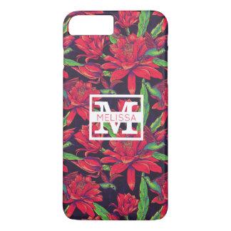 Les fleurs et les colibris | ajoutent votre nom coque iPhone 7 plus