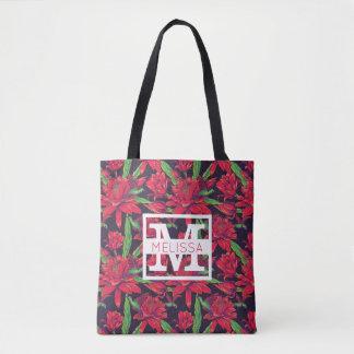 Les fleurs et les colibris | ajoutent votre nom tote bag