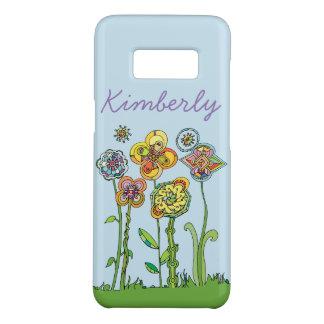 Les fleurs lunatiques l personnalisent + Arrière - Coque Case-Mate Samsung Galaxy S8