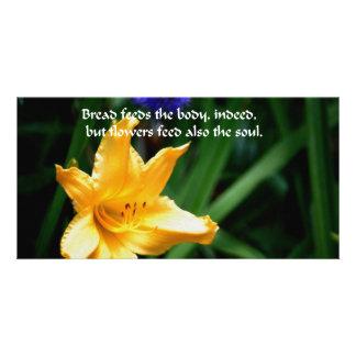 Les fleurs sont l alimentation de l âme photocarte