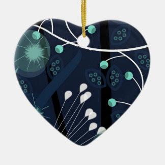 Les florales 2 ornement cœur en céramique