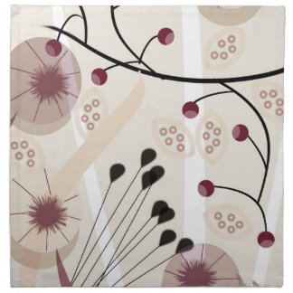 Les florales serviettes en tissus