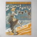 Les folies 1915 de Ziegfled me tiennent dans des v Affiches