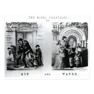 Les fontaines ou le genièvre et l'eau rivaux cartes postales
