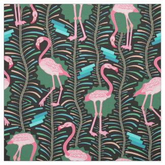 Les fougères des oiseaux 20s Deco de flamant Tissu