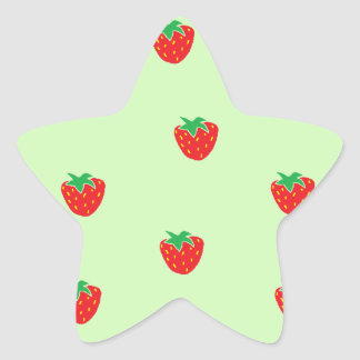 Les fraises monnayent le vert sticker étoile