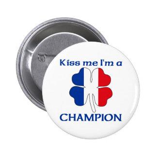 Les Français personnalisés m'embrassent que je sui Badge