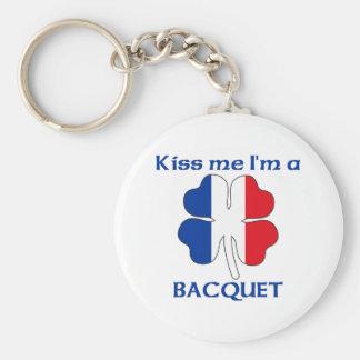Les Français personnalisés m'embrassent que je sui Porte-clé Rond